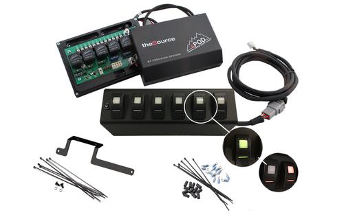 sPOD JK Switch Panel 6 Switch Dual 09-17 Wrangler JK Green 600-0915LT-LED-G