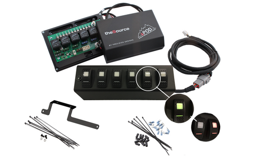 sPOD JK Switch Panel 6 Switch Dual 09-17 Wrangler JK Amber 600-0915LT-LED-A