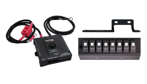 sPOD Bantam w/ 8-switch Panel Amber Switches for 09-18 Wrangler JK BAN8-600-0915-LEDA