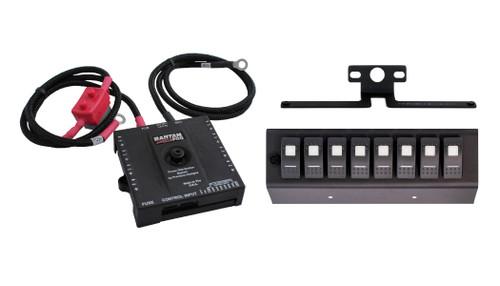 sPOD Bantam w/ 8-switch Panel Green Switches for 07-08 Wrangler JK BAN8-600-07-LEDG
