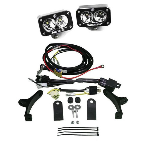 Baja  Designs  Motorcycle Headlight A/ C LED Race Light Black Squadron Pro 497001BKAC