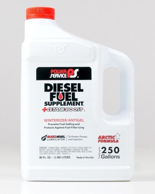 Power Service Diesel Additives DIESEL FUEL SUPPLEMENT +CETANE BOOST 1080 80 oz.