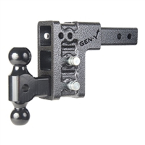 "Drop Hitch 2"" Receiver Class IV 10K Towing Hitch GH-313, Combo Includes Dual Ball & 2 Hitch pins (5"" DROP DUAL BALL)"