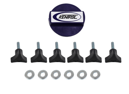 Kentrol Jeep TJ/JK Hardtop Screws 03-17 Wrangler TJ/JK Textured Black 70009