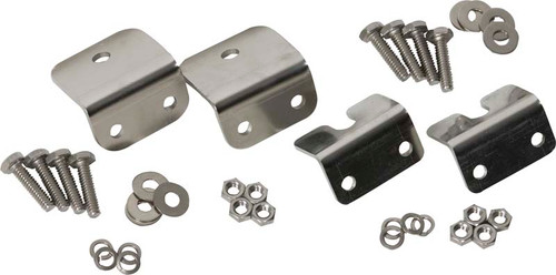 Kentrol Jeep CJ Strut Rod Mounting Brackets 4 Pieces Fiberglass 72-86 CJ Polished Silver 30667