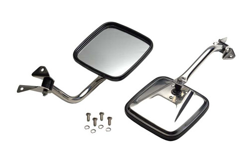Kentrol Jeep YJ Mirror Kit Pair 87-95 Wrangler TJ Polished Silver 30445