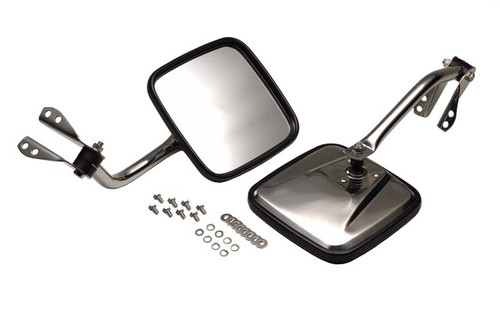 Kentrol Jeep CJ Mirror Kit Pair 55-86 CJ Polished Silver 30417