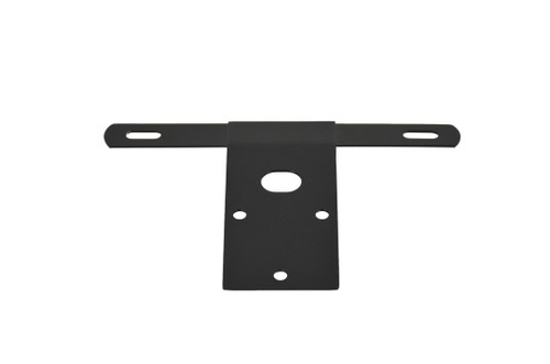 Kentrol Jeep CJ License Plate Bracket 76-86 CJ Powdercoat Black 50472