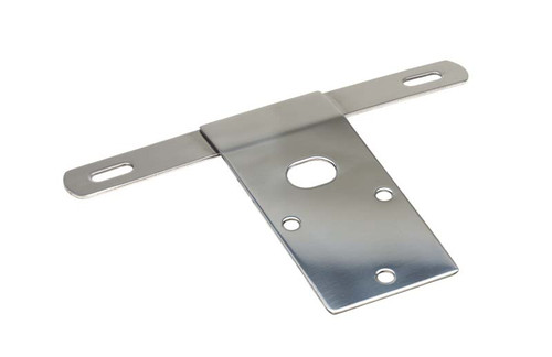 Kentrol Jeep CJ License Plate Bracket 76-86 CJ Polished Silver 30472