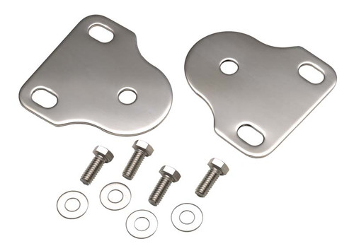 Kentrol Jeep CJ/YJ Interior Windshield Brackets Pair 76-95 CJ and Wrangler YJ Polished Silver 30408