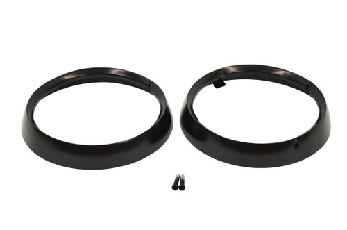 Kentrol Jeep CJ Headlight Bezels Pair 72-86 CJ Powdercoat Black 50537