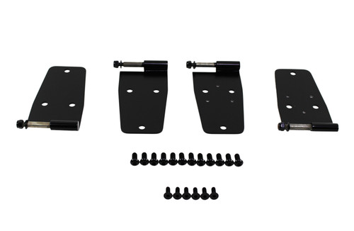 Kentrol Jeep CJ/YJ Hardtop Door Hinge Set 4 Pieces 76-93 CJ and Wrangler YJ Powdercoat Black 50420