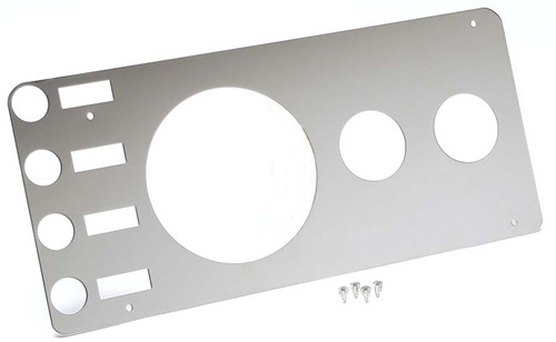 Kentrol Jeep CJ Gauge Cover Without Radio Opening 76-86 CJ Polished Silver 30521