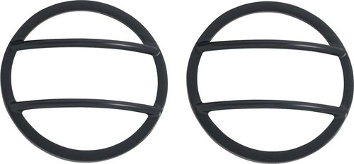 Kentrol Jeep JK Front Marker Covers Pair 07-18 Wrangler JK Powdercoat Black 50009