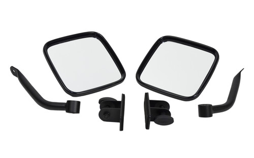 Kentrol Jeep TJ/JK E-Z Detach Mirrors Pair 97-18 Wrangler TJ/JK Textured Black 80496