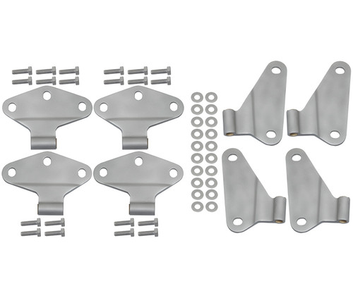 Kentrol Jeep JK Body Door Hinge Set 8 Pieces 4 Door 07-18 Wrangler JK Bare Grey 40581