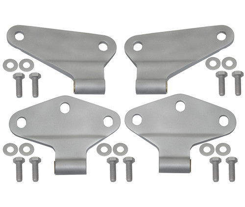 Kentrol Jeep JK Body Door Hinge Set 4 Pieces 2 Door 07-18 Wrangler JK Bare Grey 40580