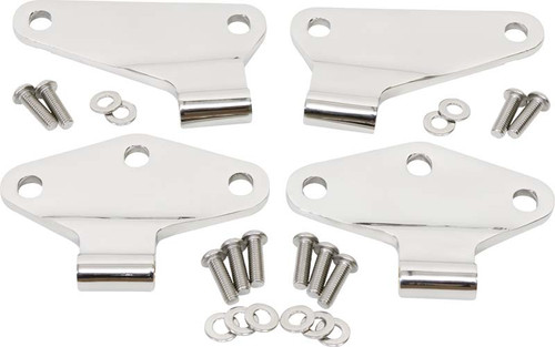 Kentrol Jeep JK Body Door Hinge Set 4 Pieces 2 Door 07-18 Wrangler JK Polished Silver 30580