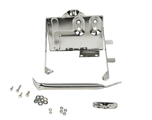 Kentrol Jeep CJ Battery Tray with support arm 76-86 CJ Polished Silver 30498