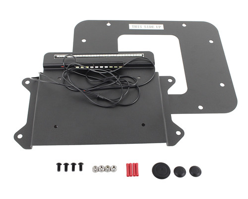 Kentrol Jeep JK BackSide License Plate Mount with LED's 07-09 Wrangler JK Textured Black 80707