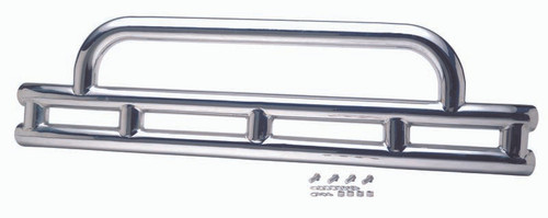 Kentrol Jeep YJ 3 Inch Double Tube Front Bumper 87-95 Wrangler TJ Polished Silver 30446