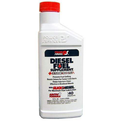 Power Service Diesel Additives DIESEL FUEL SUPPLEMENT +CETANE BOOST 1016 16 oz 1 bottle