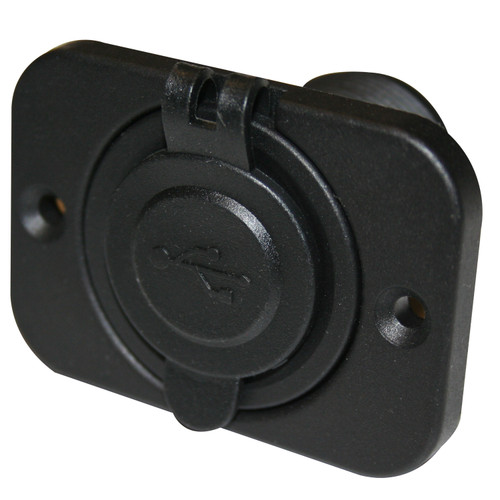Bulldog Winch USB Power Socket Dual 5V 1A and 2.1A W/Cover and 3 Mounting Brackets 20287