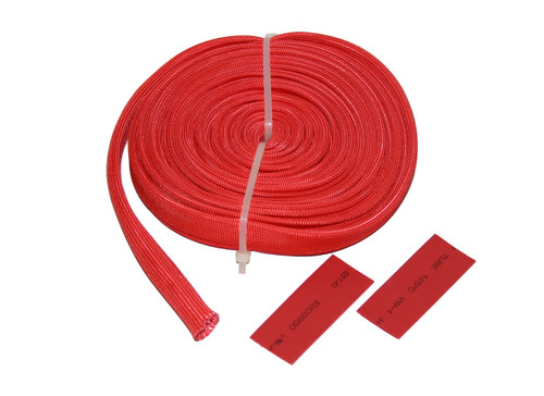 Bulldog Winch 25 Ft Wire Sheathing 10mm 3/8 Inch High Heat Fiberglass Red 20138