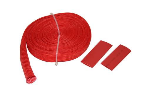 Bulldog Winch 25 Ft Wire Sheathing 14mm 1/2 Inch High Heat Fiberglass Red 20137