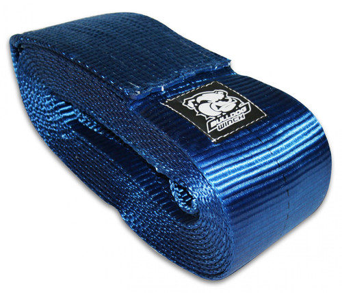 Bulldog Winch Recovery Strap 6 Inch x 30 Ft 60 000 LB BS Polyester Blue 20032