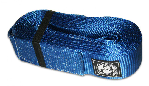 Bulldog Winch Recovery Strap 4 Inch x 30 Ft 40 000 LB BS Polyester Blue 20031