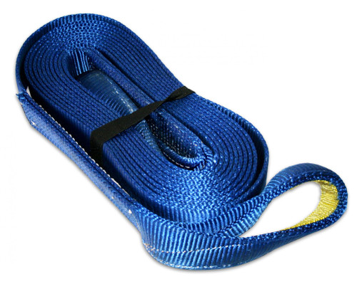 Bulldog Winch Recovery Strap 3 Inch x 30 Foot 30 000 LB BS Polyester Blue 20030
