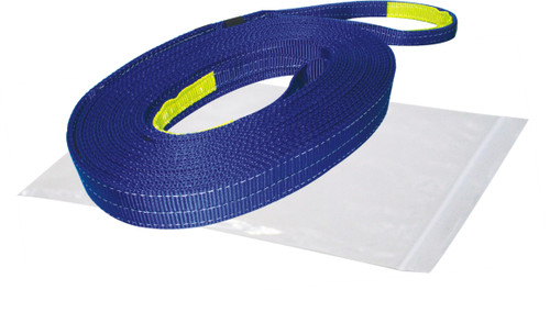 Bulldog Winch Recovery Strap 2 Inch x 20 Foot 20 000 LB BS Polyester Blue 20029