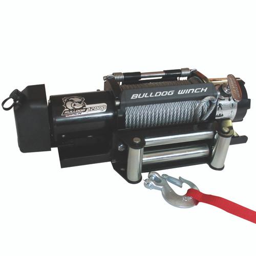 Bulldog Winch 12,000 LB Trailer Winch 100 Ft Wire Rope Roller Fairlead 10039