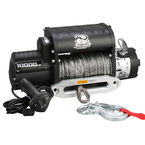 Bulldog Winch 10,000 LB Winch Integrated W/100 Ft Wire Rope 10017