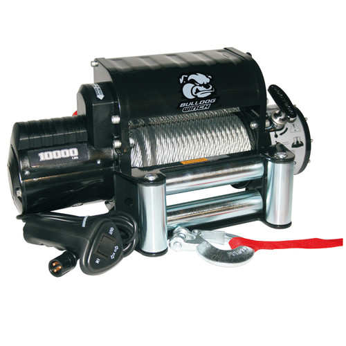 Bulldog Winch 10,000 LB Winch Integrated W/87 Ft Wire Rope 10005