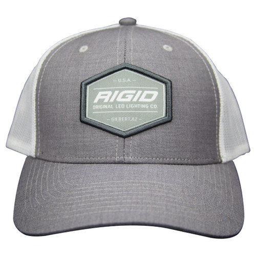 Rigid Industries Custom Trucker Hat Grey/White RIGID Industries RIGID Industries 1049