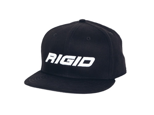 Rigid Industries Flat Bill Hat Embossed Black RIGID Industries 1031