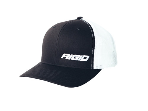 Rigid Industries Trucker Hat Side Logo Black/White RIGID Industries 1029