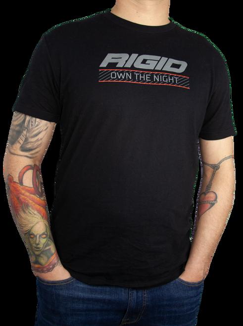 Rigid Industries Own The Night T Shirt Large Black RIGID 1059