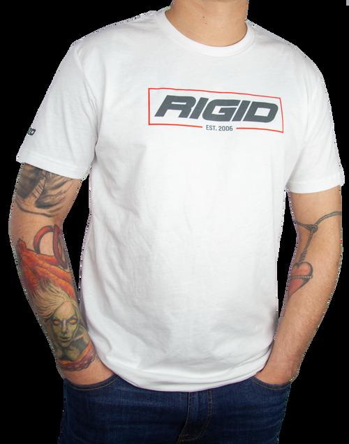 Rigid Industries RIGID T Shirt Established 2006 Large White 1051