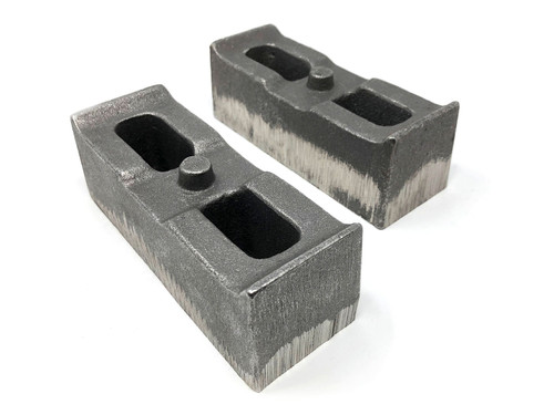 Tuff Country 2 Inch Cast Iron Lift Blocks 01-10 Silverado 4WD/GMC Sierra 2500HD/3500HD 4WD Pair 79062