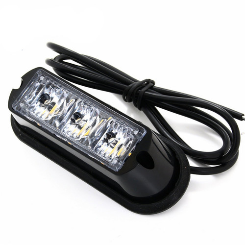 Lifetime LED Lights 3-LED Flashing Amber Strobe Surface Mount Emergency Light Lifetime LLL3SA