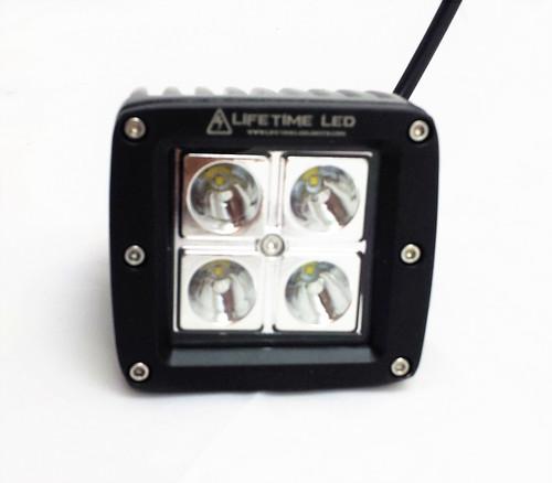 Lifetime LED Lights 3 Inch LED Pods 20Watt Flood Pattern Lifetime LLL-16-1254-F