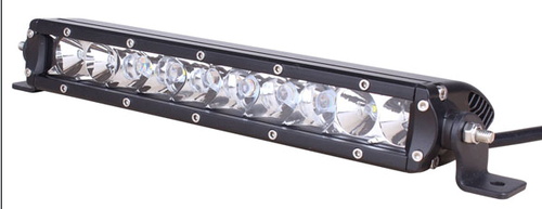 Lifetime LED Lights 10 Inch LED Light Bar Single Row Flood Pattern Lifetime LLL50-5W-4500-F