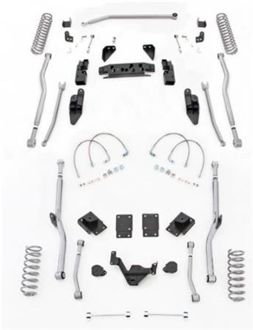 Rubicon Express 3.5 Inch JK Lift Kit Extreme Duty Long Arm System 4 Link Front/Rear No Shocks 07-18 Jeep Wrangler JK 2 Dr JK4R23