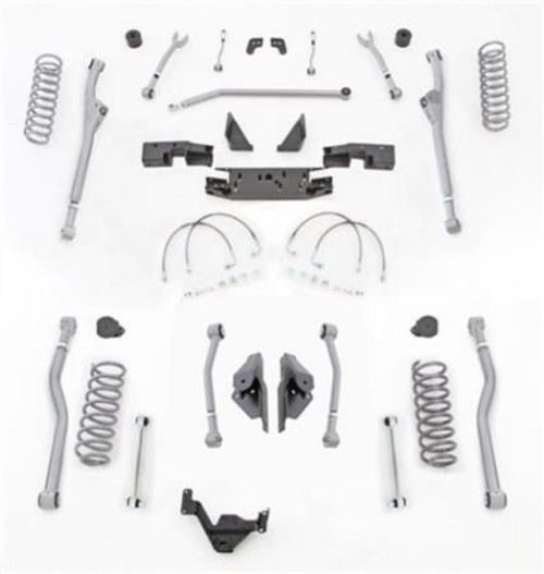 Rubicon Express 3.5 Inch JK Lift Kit Extreme Duty Long Arm System 4 Link Front Radius Rear No Shocks 07-18 Jeep Wrangler JK 2 Dr JKR423