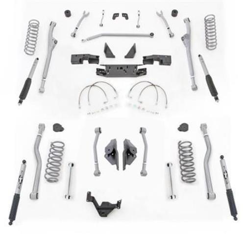 Rubicon Express 3.5 Inch JK Lift Kit Extreme Duty Long Arm System 4 Link Front Radius Rear W/Shocks 07-18 Jeep Wrangler JK 2 Dr JKR423M