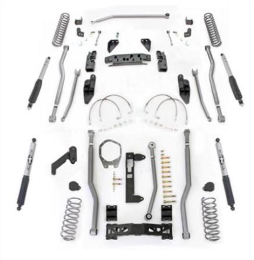 Rubicon Express 3.5 Inch JK Lift Kit Extreme Duty Long Arm System 4 Link Front 3 Link Rear W/Shocks 07-18 Jeep Wrangler JKU 4 Dr JK4343M