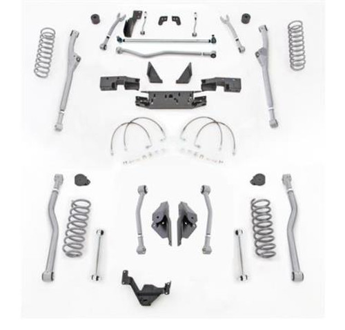 Rubicon Express 4.5 Inch JK Lift Kit Extreme Duty Long Arm System Radius Front 4 Link Rear No Shocks 07-18 Jeep Wrangler JK 2Dr JKR424